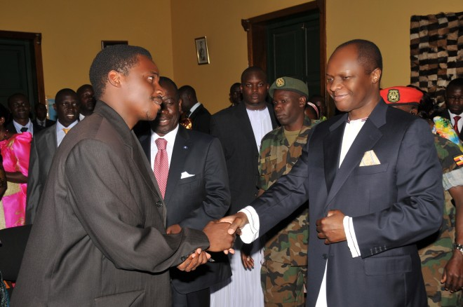 Kabaka's Visit to Prince's Office